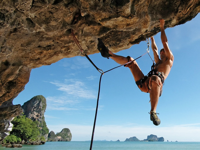 Rock climbing at 9 Hornbills Adult only Glamping Koh Yao