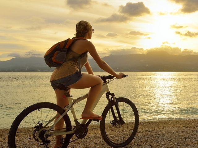 Mountain biking at 9 Hornbills Adult only Glamping Koh Yao
