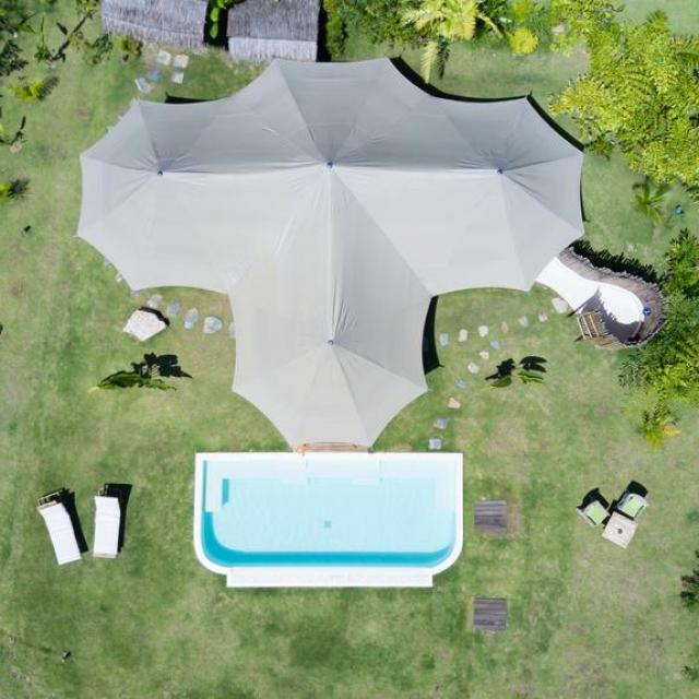 Arial photo of 9 Hornbills Adult only Glamping Koh Yao tent