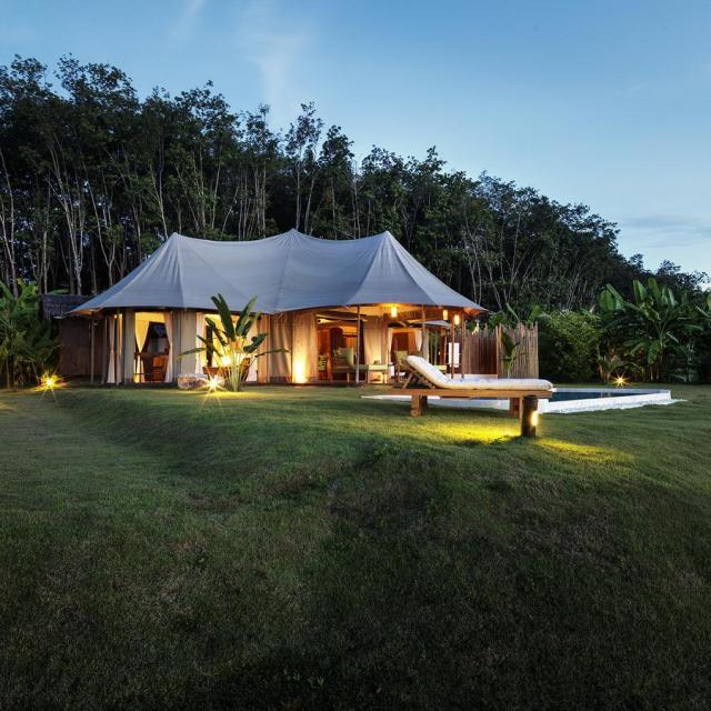 Island hoping at 9 Hornbills Adult only Glamping Koh Yao
