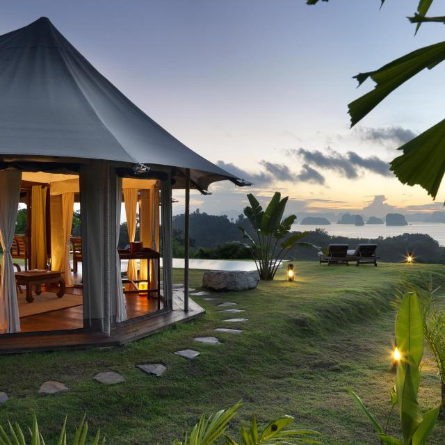 Senset over Koh Yao with tent and private pool 9 Hornbills Adult only Glamping Koh Yao