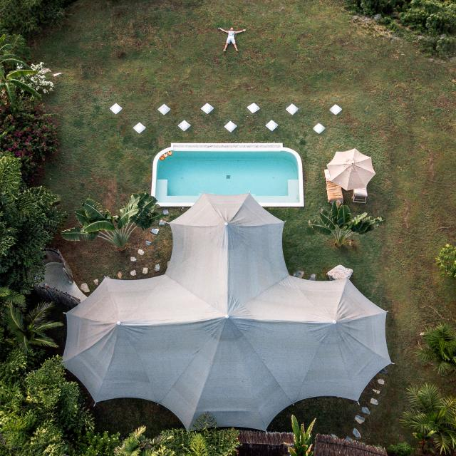 Arial photo of 9 Hornbills tent and private pool 9 Hornbills Adult only Glamping Koh Yao